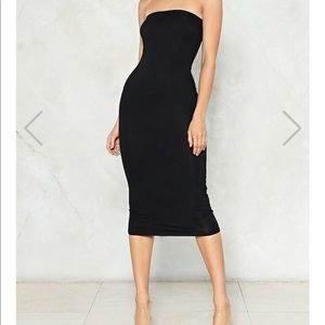 Simple As That Strapless Bodycon Dress